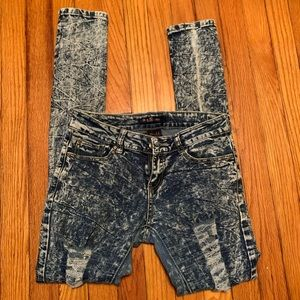 B&G Acid Wash Distressed Jeans
